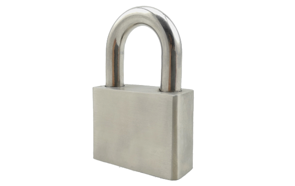 Stainless steel padlock,hardened steel shackle,solid steel,master key,anti-rust,40mm,50mm,60mm