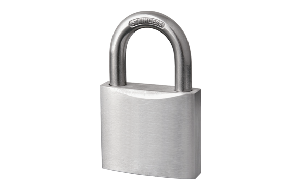 Normal stainless steel padlock, hardened steel shackle, high strength body, polished body