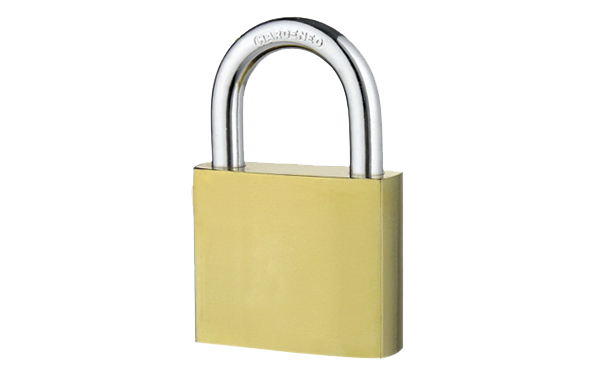Tai-plated iron padlock, golden color, hardened steel shackle