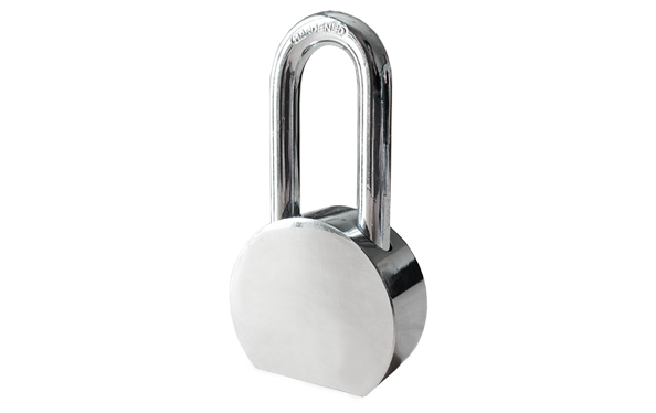 Round shape stainless steel padlock, hardened steel shackle, heavy duty