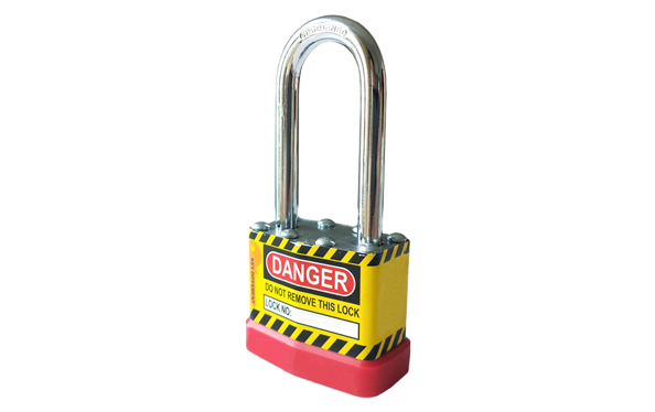 Safety padlock for factory, engineering and equipment, laminated padlock, long shackle