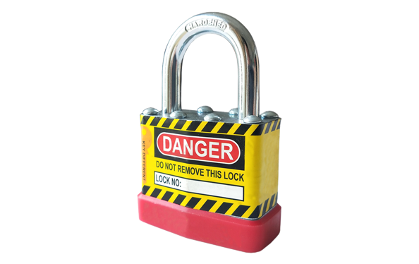 Safety padlock for factory, engineering and industry, laminated padlock